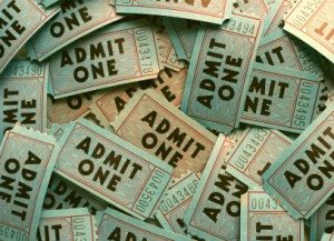 image of a collection of admission tickets