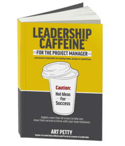 Book cover for Leadership Caffeine for the Project Manager