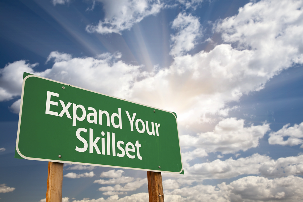 """Road Sign that says, """"Expand Your Skillset"""""""