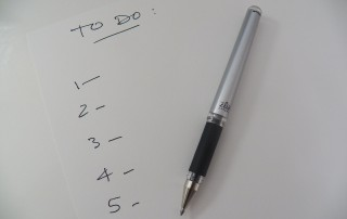 To Do List with Numbers and a Pen