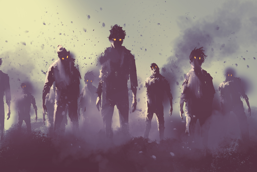 Image of Zombies marching