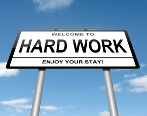 Roadsign: Hard Work: Enjoy Your Stay