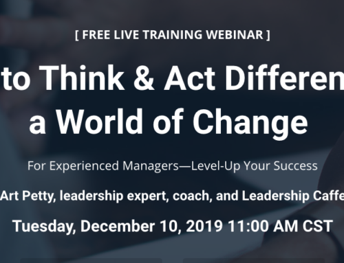 For Experienced Managers—A Webinar to Inspire and Help You Grow